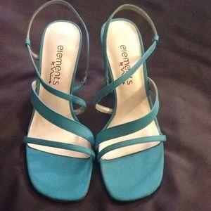 Blue Satin heels Sandal shoes